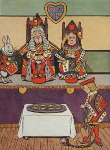 027-color-king-and-queen-of-hearts-rabbit-jack-in-ball-and-chain-cookies-table-cloth-public-domain
