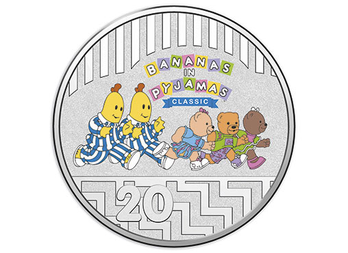 311292_D_Reverse of the 2017 twenty cent bananas in pyjamas coloured frosted uncirculated coin set_1