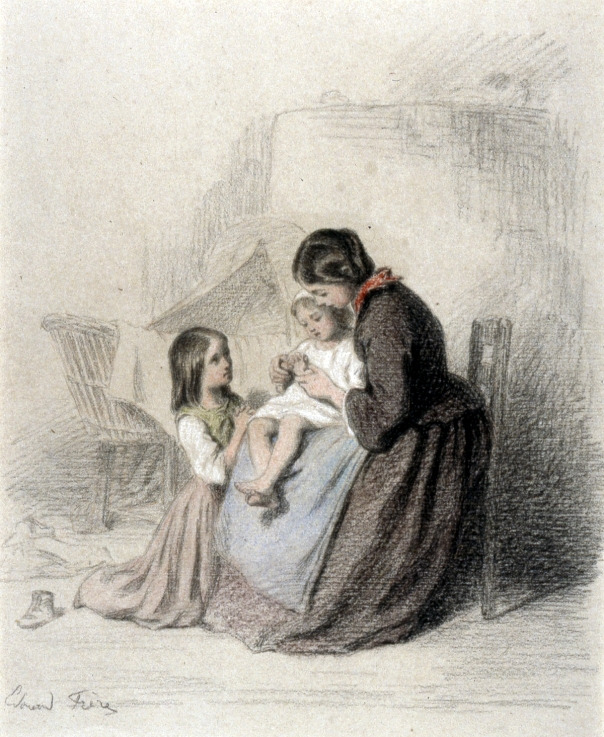 Pierre-Édouard_Frère_-_Interior_with_Woman_Teaching_Child_to_Pray_-_Walters_371404